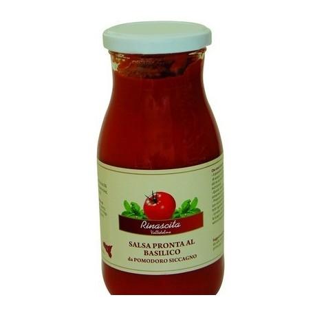 Salsa pronta al basilico di pomodoro siccagno di Valledolmo